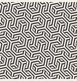 seamless interlacing lines pattern vector image vector image