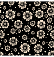 seamless pattern flowers on a dark background vector image