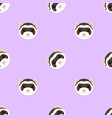 seamless pattern with cute ferret muzzle vector image vector image