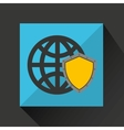 security globe system technology vector image vector image
