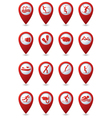 Set 16 sport red pointer vector image vector image