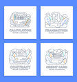 set credit card stock isolated on a white vector image vector image