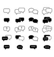 set message sms icons vector image