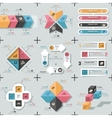 Set Of 9 Flat Minimal Infographics vector image