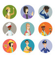 set of characters of different professions vector image
