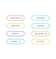 set of modern material style buttons different vector image