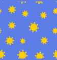 simple sun seamless pattern background eps10 vector image vector image