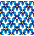 simply blue flowers pattern vector image vector image