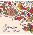 spring coming card floral background theme vector image vector image