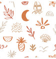 tropical beach summer seamless pattern vector image