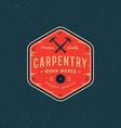 Vintage carpentry logo retro styled wood works