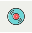 Vinyl disc thin line icon vector image