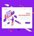 web development teamwork people and interact with vector image