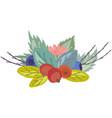 wild berries composition vector image