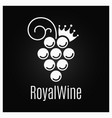 wine grape vintage logo on black background vector image