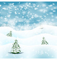 winter christmas landscape background with snow vector image