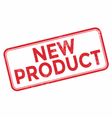 New product red rubber stamp vector image