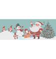 christmas time santa vector image