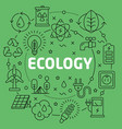 linear ecology vector image
