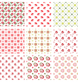 Set of baby seamless patterns vector image