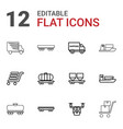 12 shipment icons vector image vector image