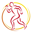 abstract runner - athletic vector image vector image
