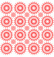 abstract seamless red pattern vector image vector image