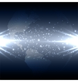 Abstract technology background with world globe vector image vector image