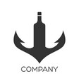 anchor wine logo vector image