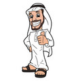 arabic man showing thumbs up sign 2 vector image vector image