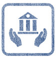 bank service fabric textured icon vector image