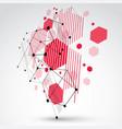 bauhaus retro wallpaper dimensional art vector image vector image