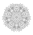 Beautiful Deco Monochrome Contour Star vector image vector image