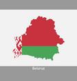 belarus map flag vector image