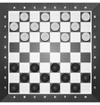 Board with checkers vector image vector image