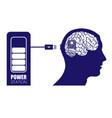 brain in head charging vector image vector image