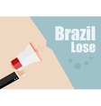 Brazil lose Flat design business vector image vector image