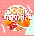 breakfast plate concept vector image