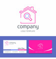 business card design with house search company vector image