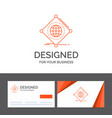 business logo template for iot internet things of vector image