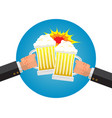 businessman hangover with beer on friday night vector image vector image