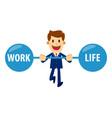 businessman keeping work and life balance vector image