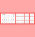 calendar for 2020 new year in clean minimal table vector image