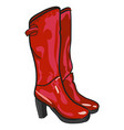 cartoon image of high boots vector image vector image