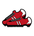 Cleats shoes soccer or football related icon image