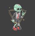 cute zombie rocker vector image vector image