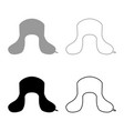 earflapped fur hat ushanka russion hatwear icon vector image vector image