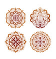 elements mehndi henna tattoo ethnic ornaments vector image vector image