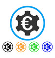euro industry rounded icon vector image vector image