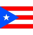 Flag of Puerto Rico in correct proportions colors vector image vector image